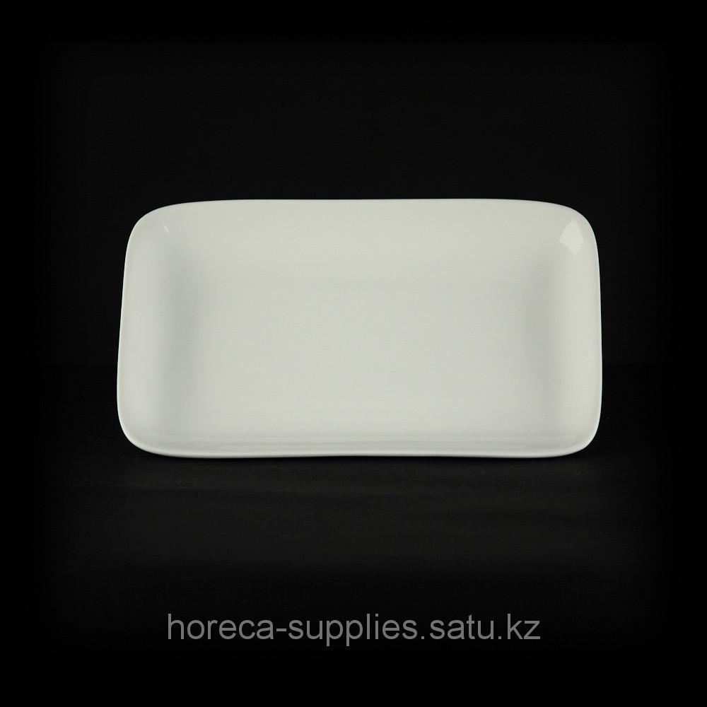 Блюдо прямоугольное «Chan Wave» 210х130 мм [ivory LQ-Q162]