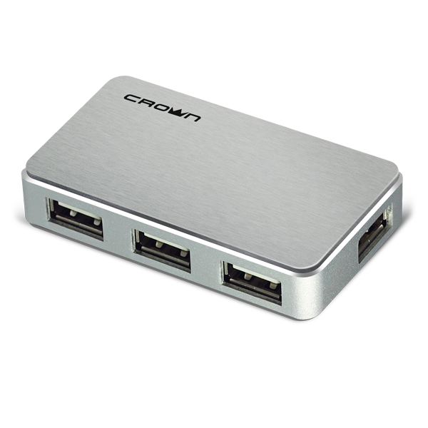 USB-хаб Crown CMH-B19 BLACK/SILVER