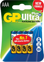 Батарейки LR03 AAА (мизинчиковые) 4 шт GP Batteries Ultra plus alkaline