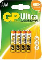 Батарейки LR03 AАA 4 шт GP Batteries Ultra alkaline