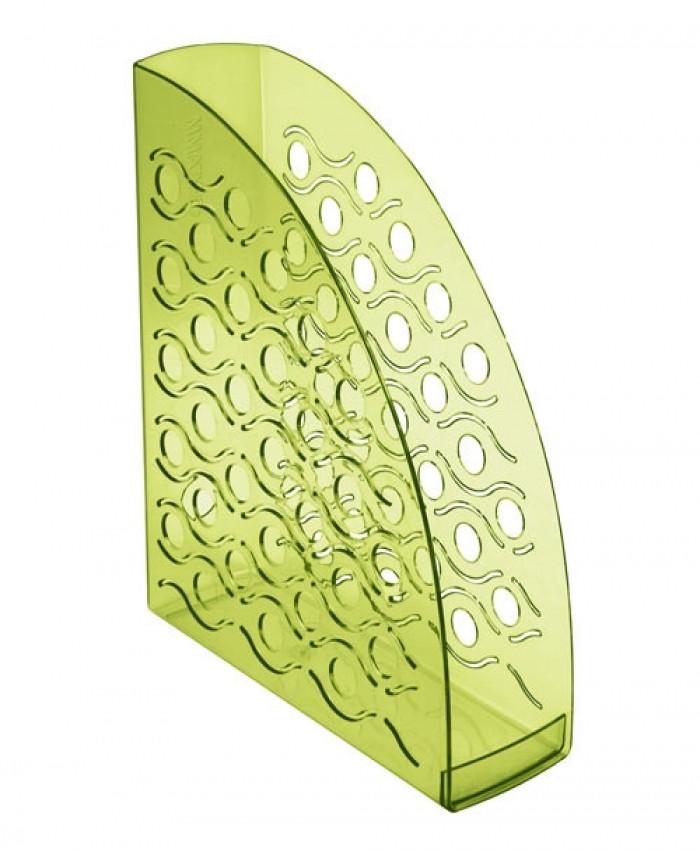 Лоток вертикальный ВЕГА тонированный  зеленый Лайм