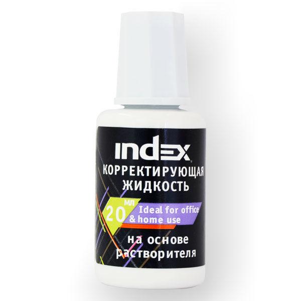 Корректор с кисточкой 20мл, на спиртовой основе, INDEX