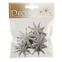 Декор Звезды с блестками серебро 5см 12шт/уп KA516662