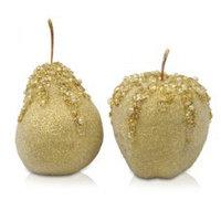 Декор Яблоко/груша золото d=7см KA455673