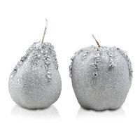 Декор Яблоко/груша серебро d=7см KA455674
