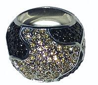 """Кольцо-перстень """"Черный бриллиант"""", фото 1"""