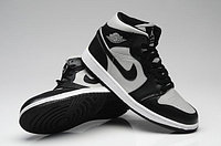 Кроссовки Nike Air Jordan Retro 1 White-black, фото 1
