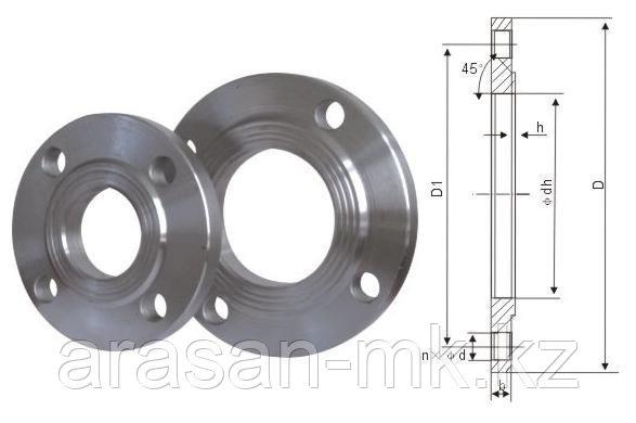 Фланцы стальные приварные РУ10 Ду500 ГОСТ 12820-80