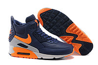Зимние кроссовки Nike Air Max 90 Sneakerboot Navy Blue Orange Grey (40-45)