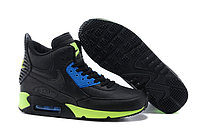 Зимние кроссовки Nike Air Max 90 Sneakerboot Black Blue Green (40-45)