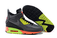 Зимние кроссовки Nike Air Max 90 Sneakerboot Grey Lumigreen Carrot (40-45)
