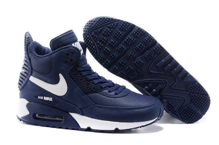 Зимние кроссовки Nike Air Max 90 Sneakerboot Blue White (40-45)