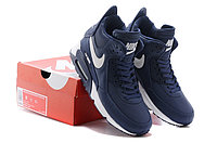 Зимние кроссовки Nike Air Max 90 Sneakerboot Blue White (40-45), фото 5
