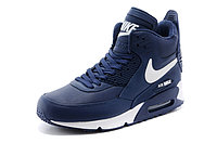 Зимние кроссовки Nike Air Max 90 Sneakerboot Blue White (40-45), фото 2