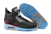 Зимние кроссовки Nike Air Max 90 Sneakerboot Hakki Blue Vine Red (40-45), фото 1