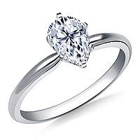 Сертификат GIA 0,27Сt J/SI1 EX Золотое 14K кольцо с бриллиантом