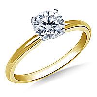 Сертификат GIA 0,23Сt I/SI1 EX Золотое 14K кольцо с бриллиантом