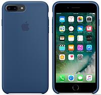 Cиликоновый чехол для iPhone 8 Plus (глубокий синий)