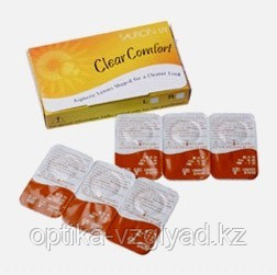 Контактные линзы Sauflon Aspheric Clear Comfort 55% UV 8.7