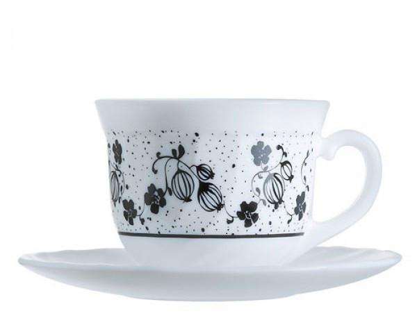 Сервиз чайный Luminarc Alcove Black на 6 персон 12 единиц (H2446)