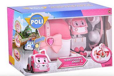 83074 Robocar Poli Кейс с трансфером Эмбер и аптечкой