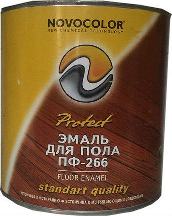 ЭМАЛЬ ПФ-266 желто-коричневая 0,8 кг, фото 2