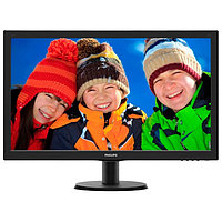 "27"" Philips 273V5LSB 1920x1080 TN LED 16:9 5ms VGA DVI-D 10M:1 170/160 250cd Black Hairline"