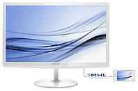 "23,6"" Philips 247E6EDAW IPS-ADS 1920x1080 16:9 5ms VGA, DVI, MHL-HDMI, 20M:1 178/178 250cd, Speakers White."