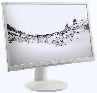 "24"" AOC E2460PQ 1920x1080 TN LED 16:9 2ms VGA DVI DP 50M:1 170/160 250cd Speakers поворот экрана White"