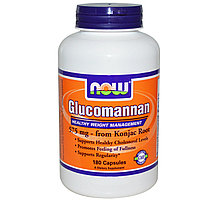 Now Foods, Глюкоманнан, 575 мг (для снижения веса), 180 капсул.