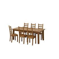 Стол раскл и 6 стульев СТУРНЭС / КАУСТБИ морилка,антик , фото 1