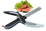 Нож-ножницы с разделочной доской 2 В 1 CLEVER CUTTER, фото 2