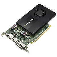 Graphics Card NVIDIA Quadro K2200, 4GB, 1xDual link DVI-I, 2хDisplayPort(1xDisplayPort-> DVI Adapter) PCI-E x16 (Z440, Z640, Z840)