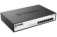 D-Link DES-1008P+/A1A, Ethernet Unmanaged Switch with 8 10/100-BaseTX PoE ports