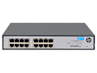"""HP 1420-16G Switch (16 ports 10/100/1000, unmanaged, fanless, 19"""")(repl. for J9560A)"""