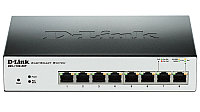 D-Link DGS-1100-08P, 8 10/100/1000Base-T PoE ports, Smart Gigabit Ethernet switch