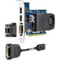HP NVIDIA GT630 DP 2GB DH PCIe x16 Dual Link DVI-I, 2x Miltimode Display Port (HP Display Port to DVI-D adapter, DVII to VGA adapter) (700 G1 MT, 705
