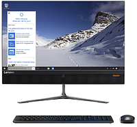 """Lenovo 510-22ISH  All-In-One 21,5"""" FHD (1920x1080)  MS Black I3-6100T 4Gb_DDR4 500G/7200 Intel HD DVD-RW KB&Mouse DOS 1Y carry-in"""