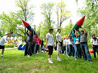 Спортивный Аттракцион «Надувная Ракета» для корпоратива и тимбилдинга, фото 1