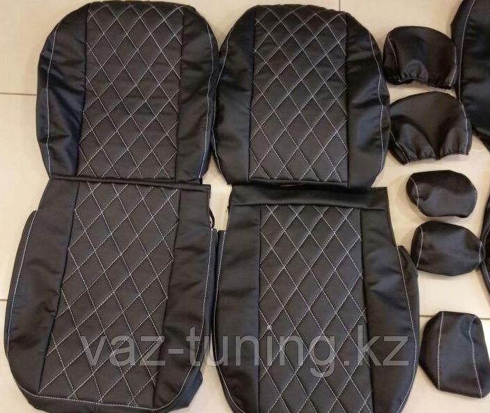 Комплект чехлов (комб.экокожа + перфорированная кожа) Лада Приора седан ВАЗ 2170 с 2011 г.в.