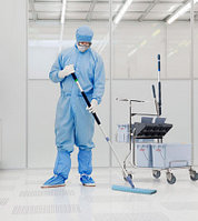 Тележка для уборки  в Чистых помещениях ведерным методом (с отжимом Дуо), фото 1