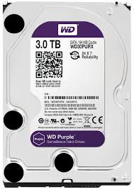 Жесткий диск HDD 3000Gb Purple Western Digital