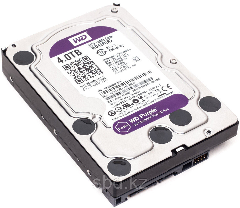 Жесткий диск HDD 4000Gb Purple Western Digital