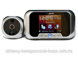 Дверной видеоглазок с функцией звонка FE-VE02 (серебро) Falcon Eye