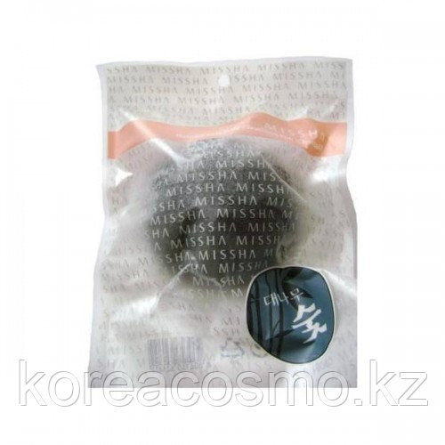 СПОНЖ MISSHA KONJAC NATURAL SOFT JELLY CLEANSING PUFF - BAMBOO CHARCOAL