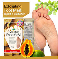 Пилинг-маска для ног Exfoliating Foot Mask, Purederm (Корея), Алматы