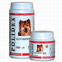 POLIDEX Glucogextron plus, Полидекс, хондропротектор для собак и щенков, уп. 500 табл.