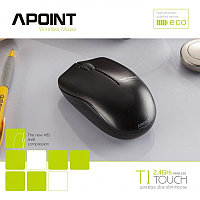 "Беспроводная компьютерная мышь ""APOINT Wireless Optical Mouse,Distance up to 10 meters,1000DPI,Black  M:T1"""