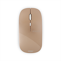 "Беспроводная компьютерная мышь ""APOINT Wireless Optical Ultra Slim Mouse,Distance up to 10 m,Gold M:T3"""