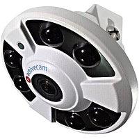 4Мп IP-камера панорамного обзора (фишай) с ИК-подсветкой TRASSIR